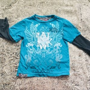 Boys American Hawk $24 Thermal Hooded Shirts Size 4-7